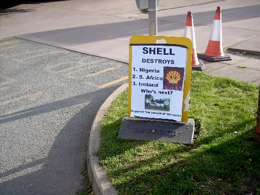 shell protest salford